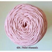 4 mm makramé - zsinórfonal - púder rózsaszín –