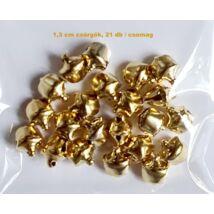 1,3 cm arany csörgő ( 20 db / csomag )