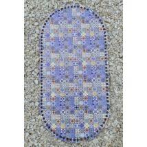 Mózeskosár fa - kék mandala -
