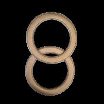 20 cm kerek bőr táskafül - Ezüst -