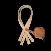 70 cm hosszú, Krém patentos táskafül