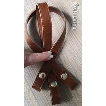 50 cm hosszú, szintetikus bőrből készült patentos táskafül - érett barna -