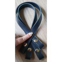 50 cm hosszú, szintetikus bőrből készült patentos táskafül - Matróz kék -