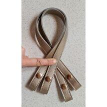 50 cm hosszú, szintetikus bőrből készült patentos táskafül - pezsgő szín -
