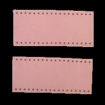 Tiszta bőr táskafül, kézi táskához - Púder rózsaszín -