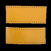 Tiszta bőr táskafül, kézi táskához - Mustár sárga -