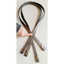 110 cm hosszú patentos táskafül - ezüst -