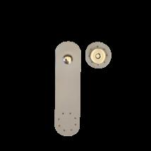 Galambszürke színű táskapánt, mágneses záródással