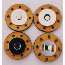 Felvarrható mágneses patentos táskazár - mustár sárga -