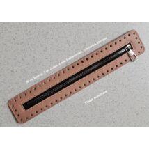 30 cm hosszú, 5 cm széles cipzár - púder rózsaszín - színben -