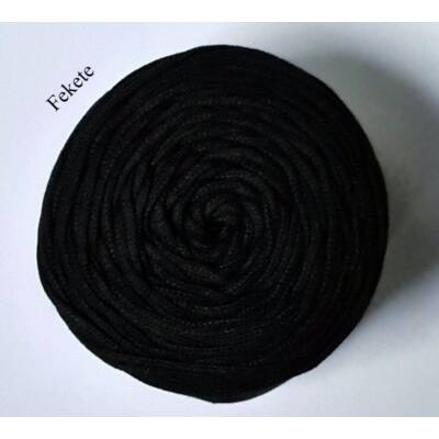 4 mm makramé - zsinórfonal - fekete –
