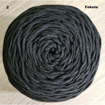 3 mm fekete színű zsnórfonal