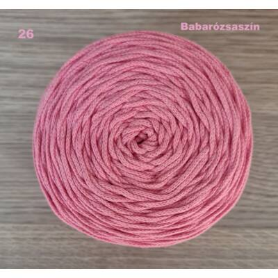 3 mm babarózsaszín színű zsinórfonal