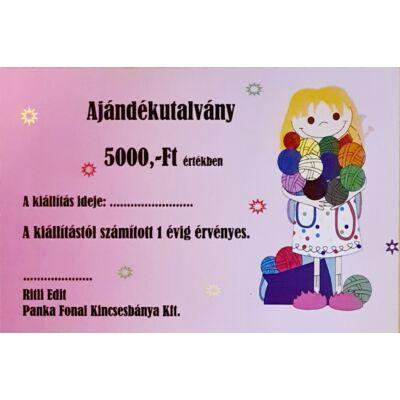 5.000,-Ft névértékű ajándékutalvány
