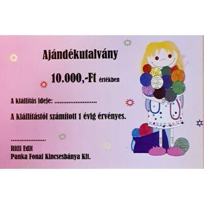 10.000,-Ft névértékű ajándékutalvány