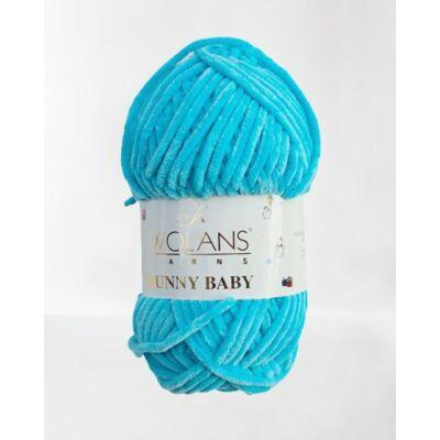 Azúrkék színű Bunny Baby fonal