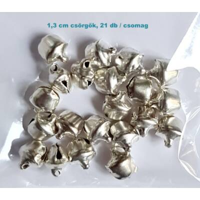 1,3 cm ezüst csörgő ( 20 db / csomag )
