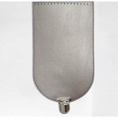 Táska fedél 31x18 cm - ezüst -
