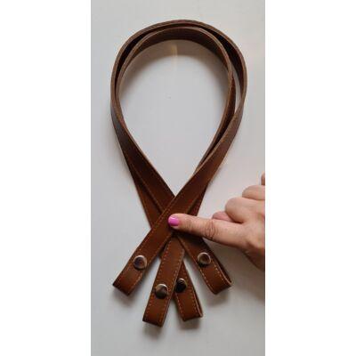 70 cm hosszú, érett barna színű patentos táskafül