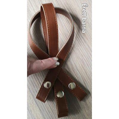 50 cm hosszú, szintetikus bőrből készült patentos táskafül - barna -