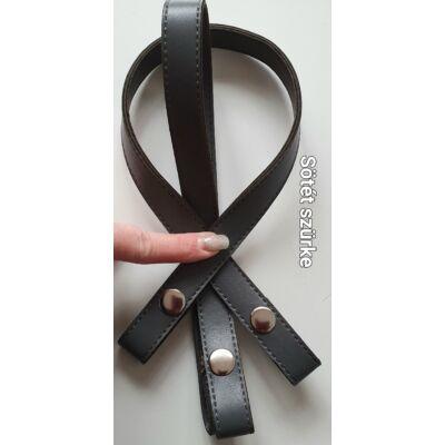 50 cm hosszú, szintetikus bőrből készült patentos táskafül - Manhattan szürke -