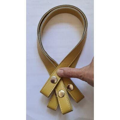 50 cm szintetikus bőrből pantetos táskafül, okker sárga -