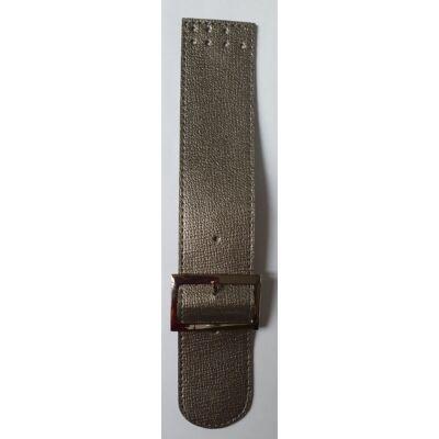25 cm hosszú, 4,5 cm széles csatos design táskapánt - ezüst -