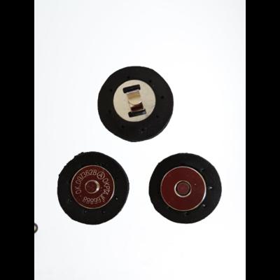 3 cm átmérővel rendelkező, felvarrható, mágneses patentos táskazár - fekete -