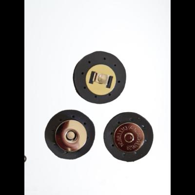 3 cm átmérővel rendelkező, felvarrható, mágneses patentos táskazár - Manhattan szürke -