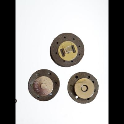 3 cm átmérővel rendelkező, felvarrható, mágneses patentos táskazár - pezsgő színű -
