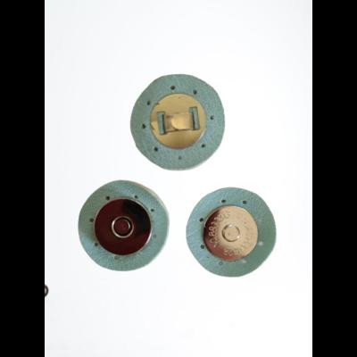 3 cm átmérővel rendelkező, felvarrható, mágneses patentos táskazár - menta zöld -