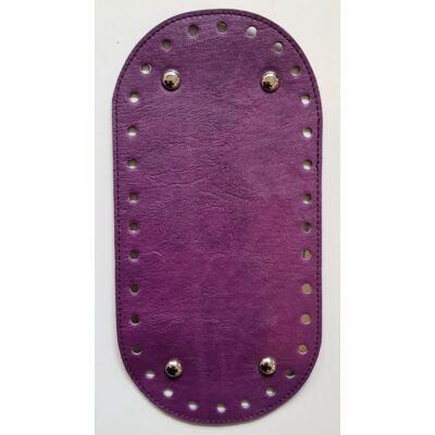 26 * 12 cm bőr ovális táska alja, 6 mm lyukmérettel, Püspök lila