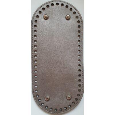 26 * 12 cm bőr ovális táska alja, 6 mm lyukmérettel, ezüst