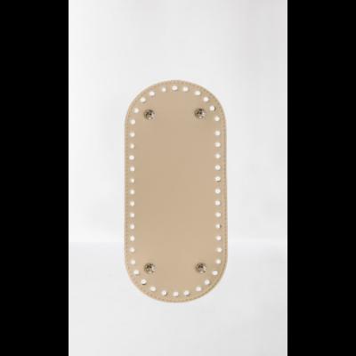 26 * 12 cm bőr ovális táska alja, 6 mm lyukmérettel, krém