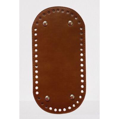 26 * 12 cm bőr ovális táska alja, 6 mm lyukmérettel, csokoládé barna