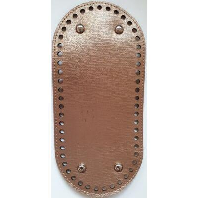 26 * 12 cm bőr ovális táska alja, 6 mm lyukmérettel, arany