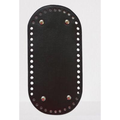 26 * 12 cm bőr ovális táska alja, 6 mm lyukmérettel, fekete