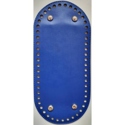 26 * 12 cm bőr ovális táska alja, 6 mm lyukmérettel, királykék