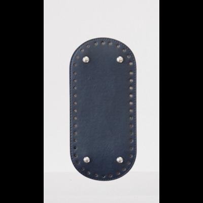 26 * 12 cm bőr ovális táska alja, 6 mm lyukmérettel, sötétkék