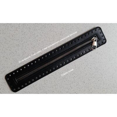 30 cm hosszú, 5 cm széles cipzár - fekete - színben -