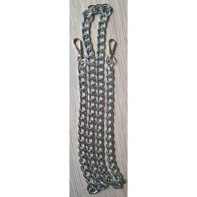 Fém táskalánc - ezüst - 110 cm hosszú
