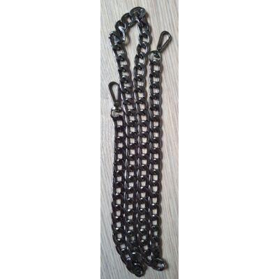 Fém táskalánc - acélszürke - 110 cm hosszú