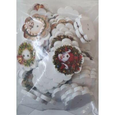 Lóhere festett karácsonyi gombok, 50 db / csomag